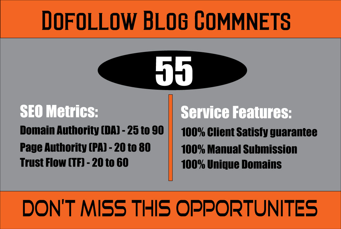 Do 55 Dofollow Blog Comments on High Quality Blogs