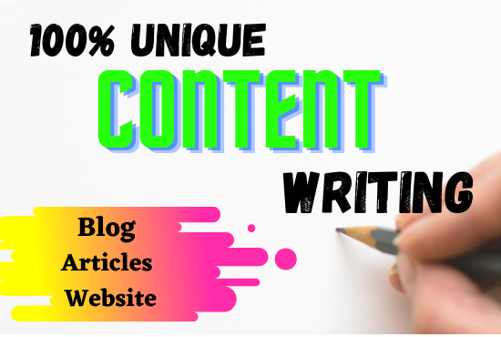 Will Do an excellent 800+ word content writing in any topic