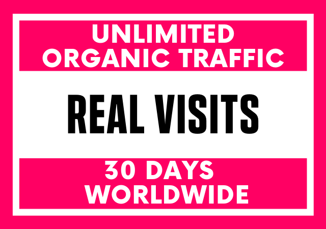 Unlimited Genuine Organic Traffic to Your Website,  targeting niche & from Worldwide