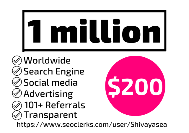 1 million traffic with most advance advertising in 30 days