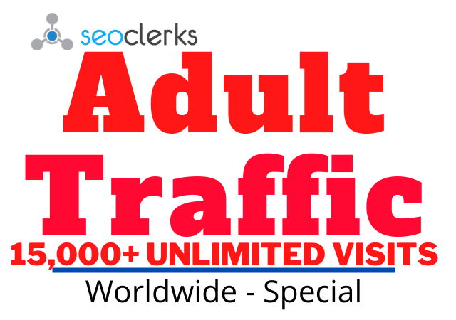 Get Adults website Traffic,  Promotions and Marketing for 1 day