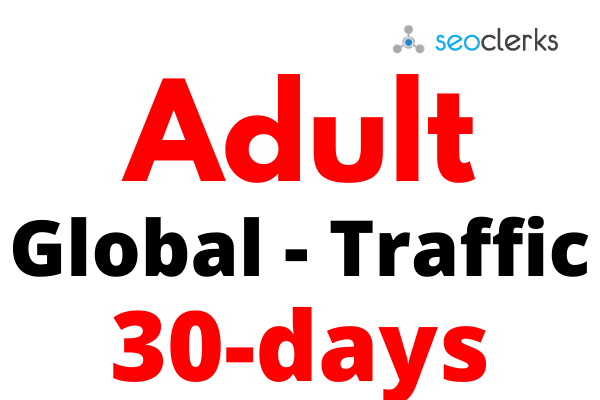 Get Adults Organic Marketing Traffic for 30 days