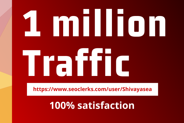 Let's get unlimited 1 million niche targeted visitors web traffic to blog or website from worldwide