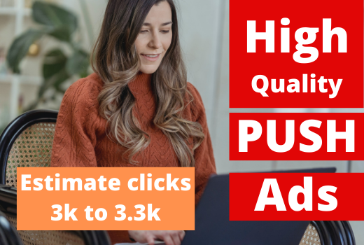 Push notification niche targeted real USA web traffic visitors to your website
