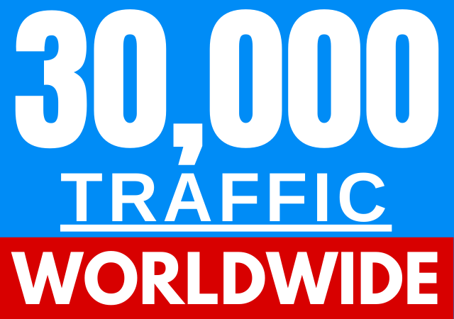 Worldwide 30,000+ Traffic For 1 Day to your Webpage