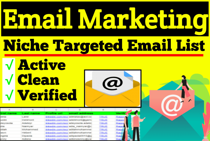 I will collect active niche targeted email list