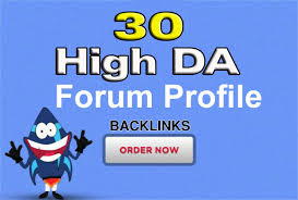 Provide 30 Forum Profile Post Backlinks