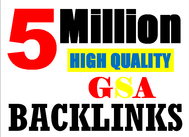 5M verified GSA High-Quality & Powerful SEO Backlink for websites,videos to achieve your goal