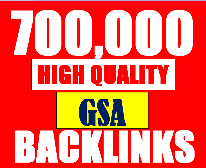 700K verified GSA High-Quality & Powerful SEO Backlink for websites, videos to achieve your goal