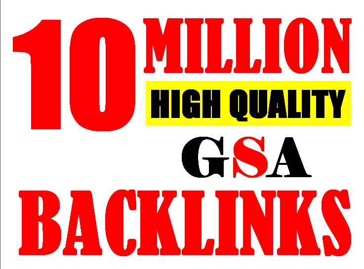 10M verified GSA High-Quality & Powerful SEO Backlink for websites, videos to achieve your goal