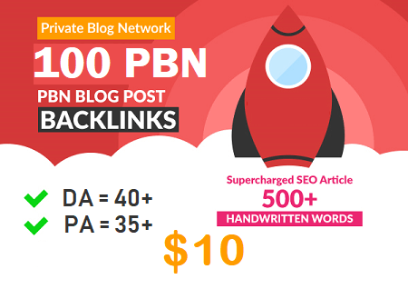 DA 40+ PA 35+ web2.0 100 pbn in unique 100 site