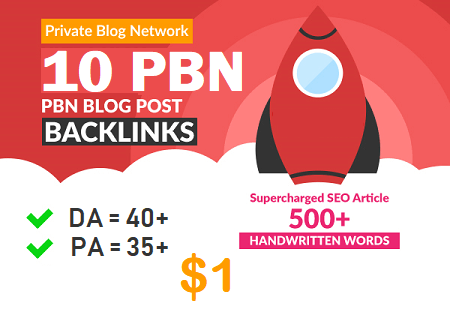 DA 40+ PA 35+ web 2.0 10 Powerful PBN 10 unique site