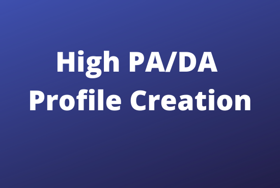 i will create 100 high quality Profile Creation for your website
