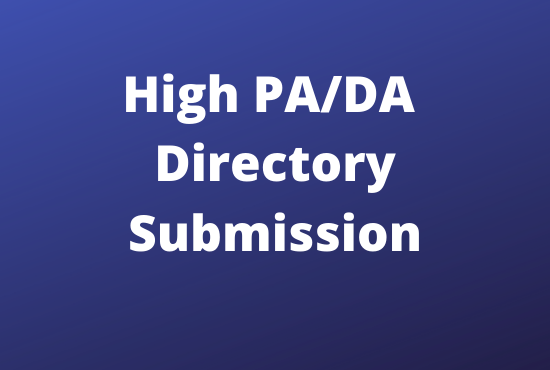 I will create 100 high quality Directory Submission