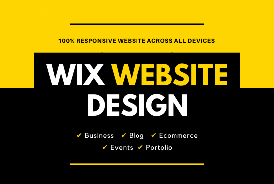 I Will Design,  customize or redesign a beautiful wix website
