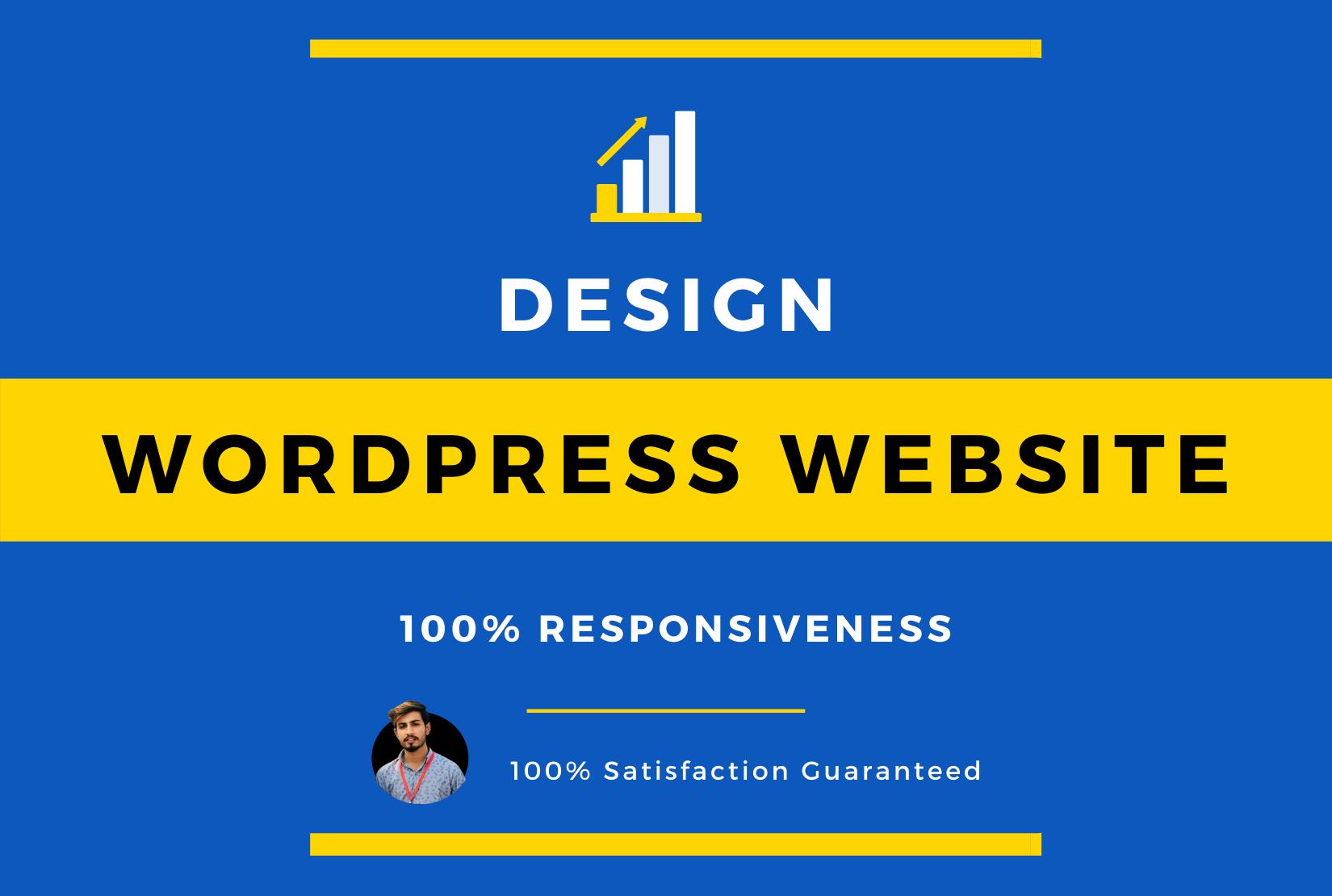 I will do wordpress website design,  development and redesign