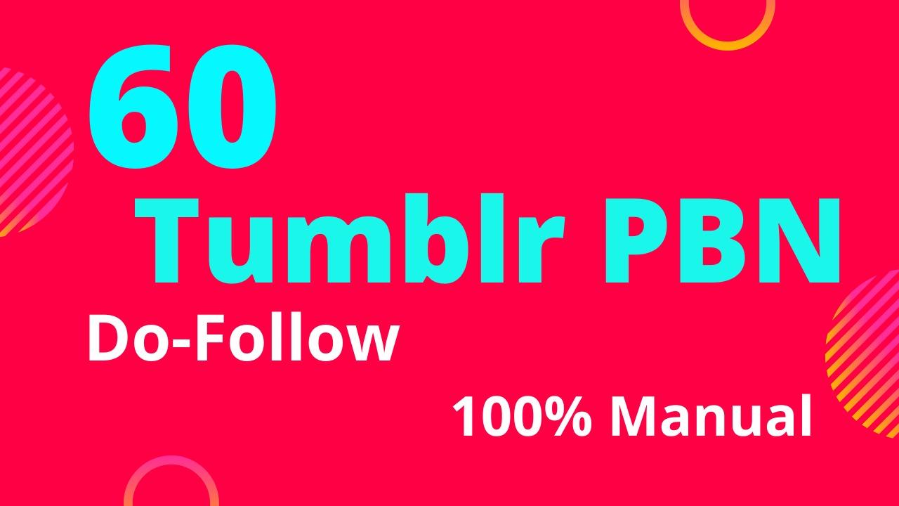 get 60 tumblr do follow backlinks DA 98 high PA