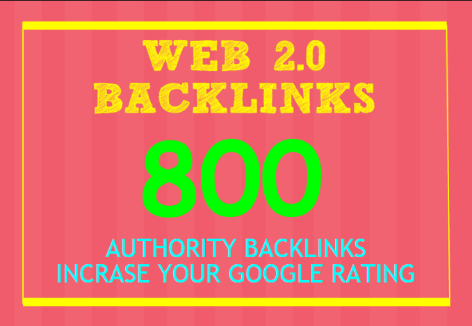 Provide 800 web2.0 profile backlinks best for your seo