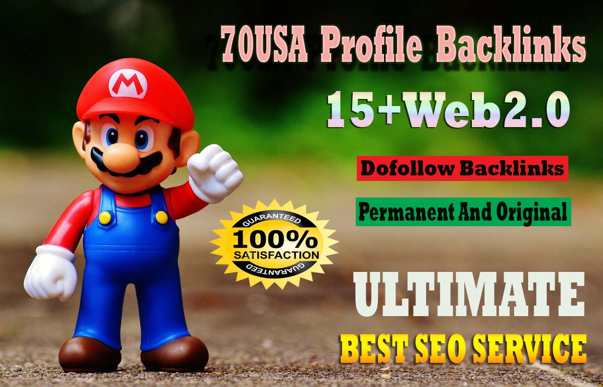 Create 70+USA Profile Backlinks 15+ Buffer Blog Web2 0 DoFollow SEO Backlinks