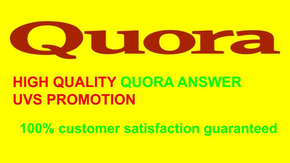 i will provide quora reliable service