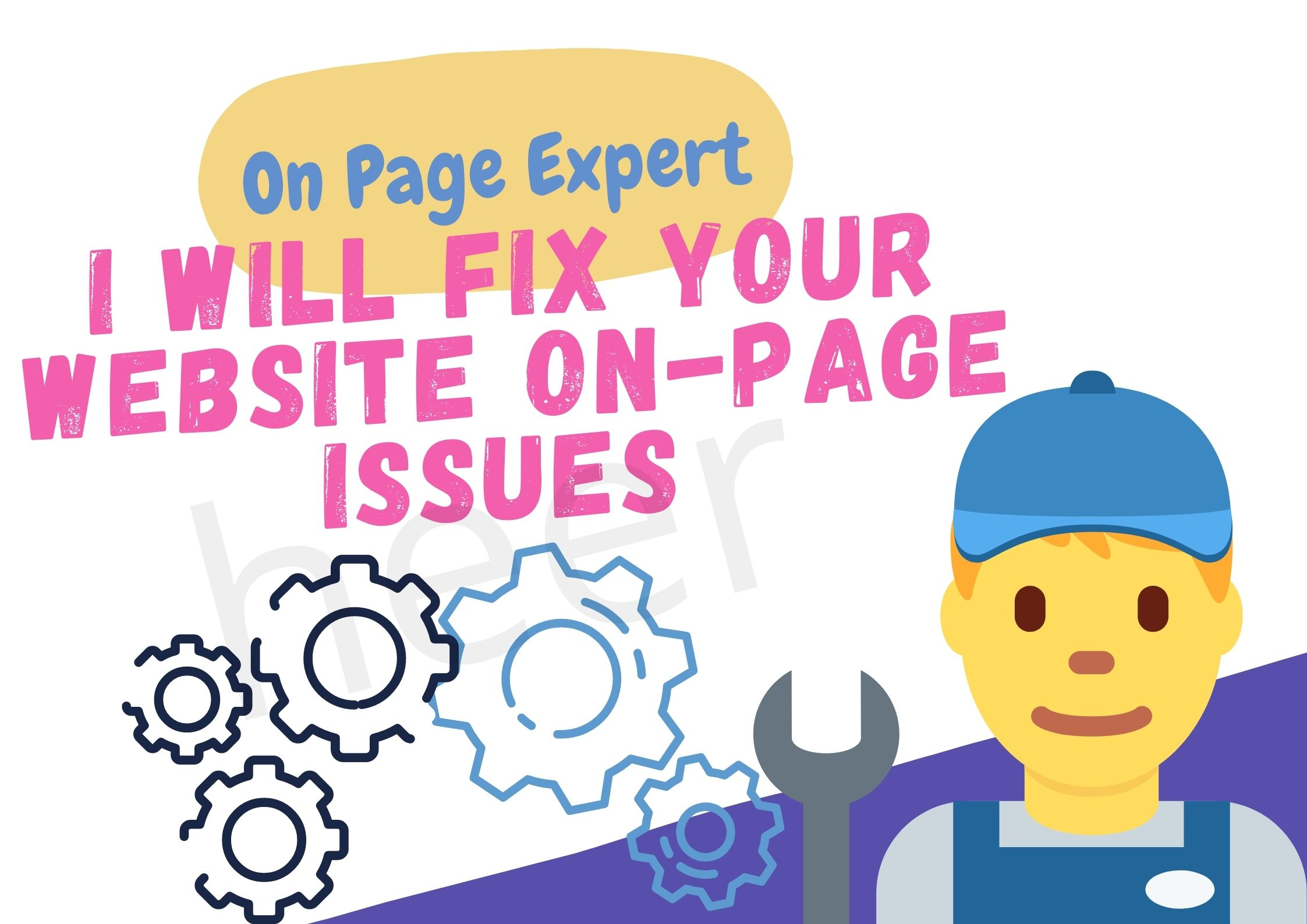 I will fix your website on-page issues