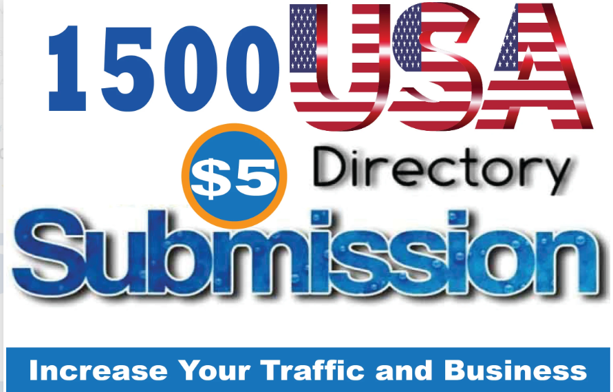 Create 1500 USA Directory Submission Backlinks With DA-PA-TF 100-40
