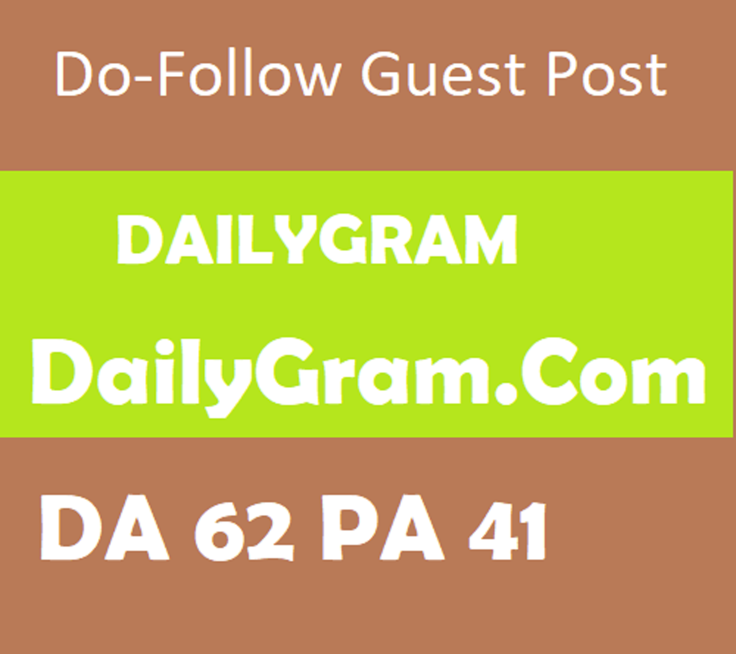 guest post on da62 Dailygram writing + posting