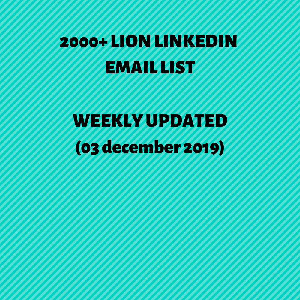 2000+ LION LinkedIn Email List
