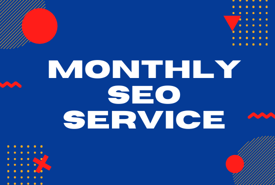 I will provide monthly SEO service,  on and off page optimization for google top ranking