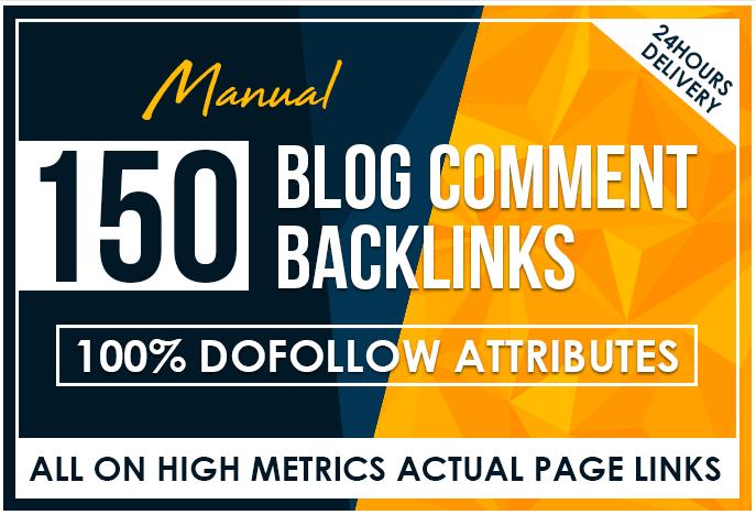 Provide 150 Manual Blog Comments Backlinks High DA PA