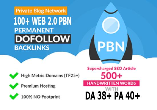 super powerful homepage web 2.0 100 PBN in Unique 100 website DA 38+ PA 35+