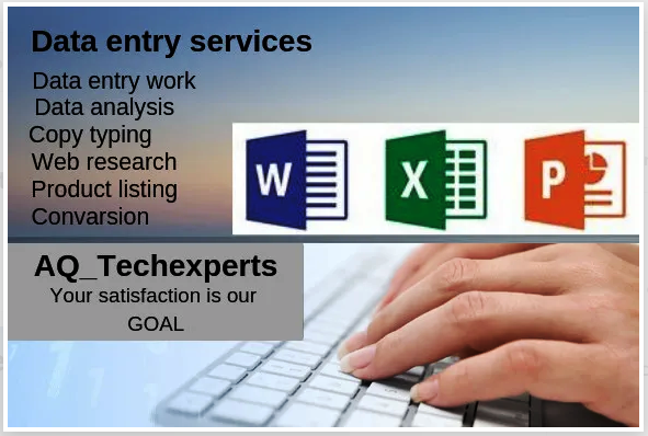 I will do PROFESSIONALLY any type of online/offline data entry operator