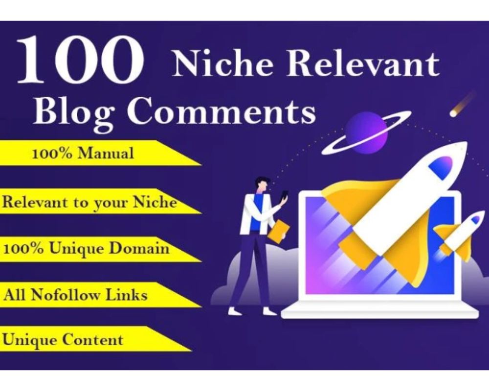 I will do 100 niche relevant blog comment nofollow High DA PA backlinks