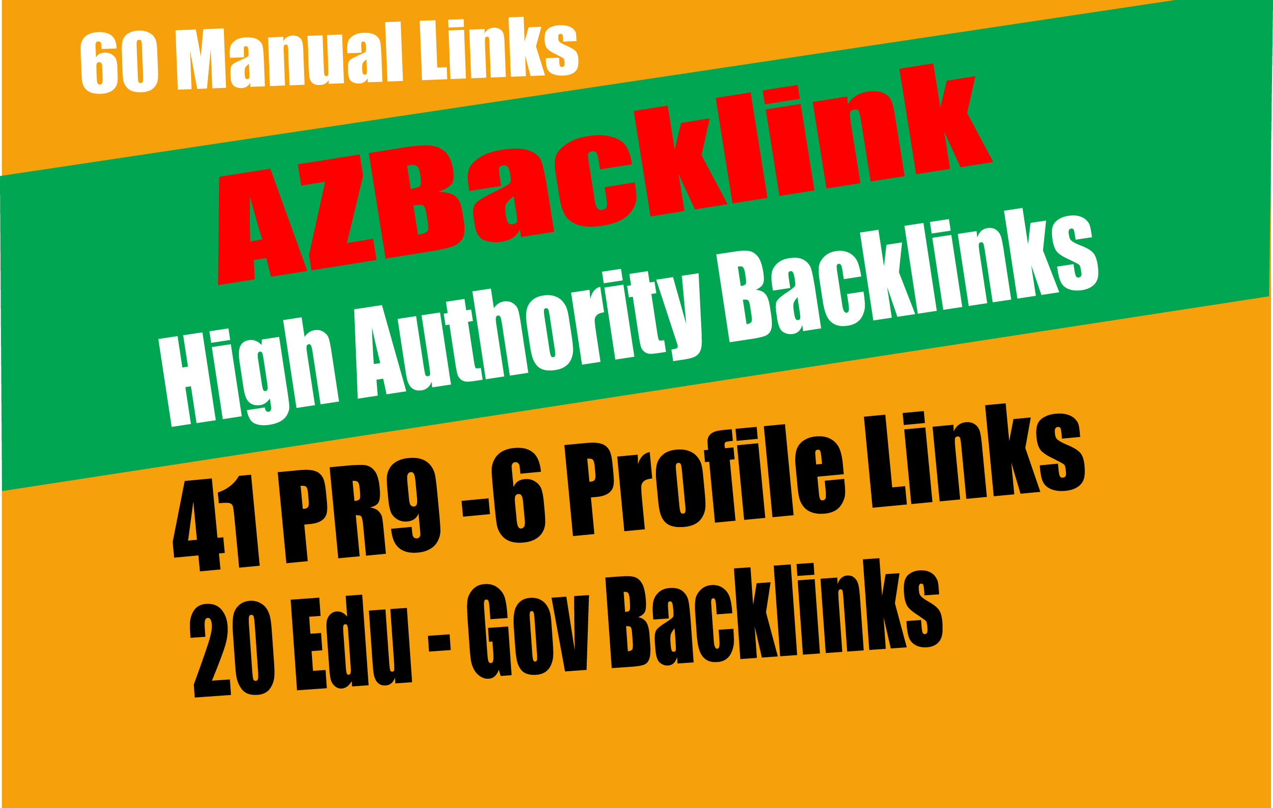 61 AZ Backlinks From 41 PR9 + 20 EDU GOV Backlinks From Authority Domain