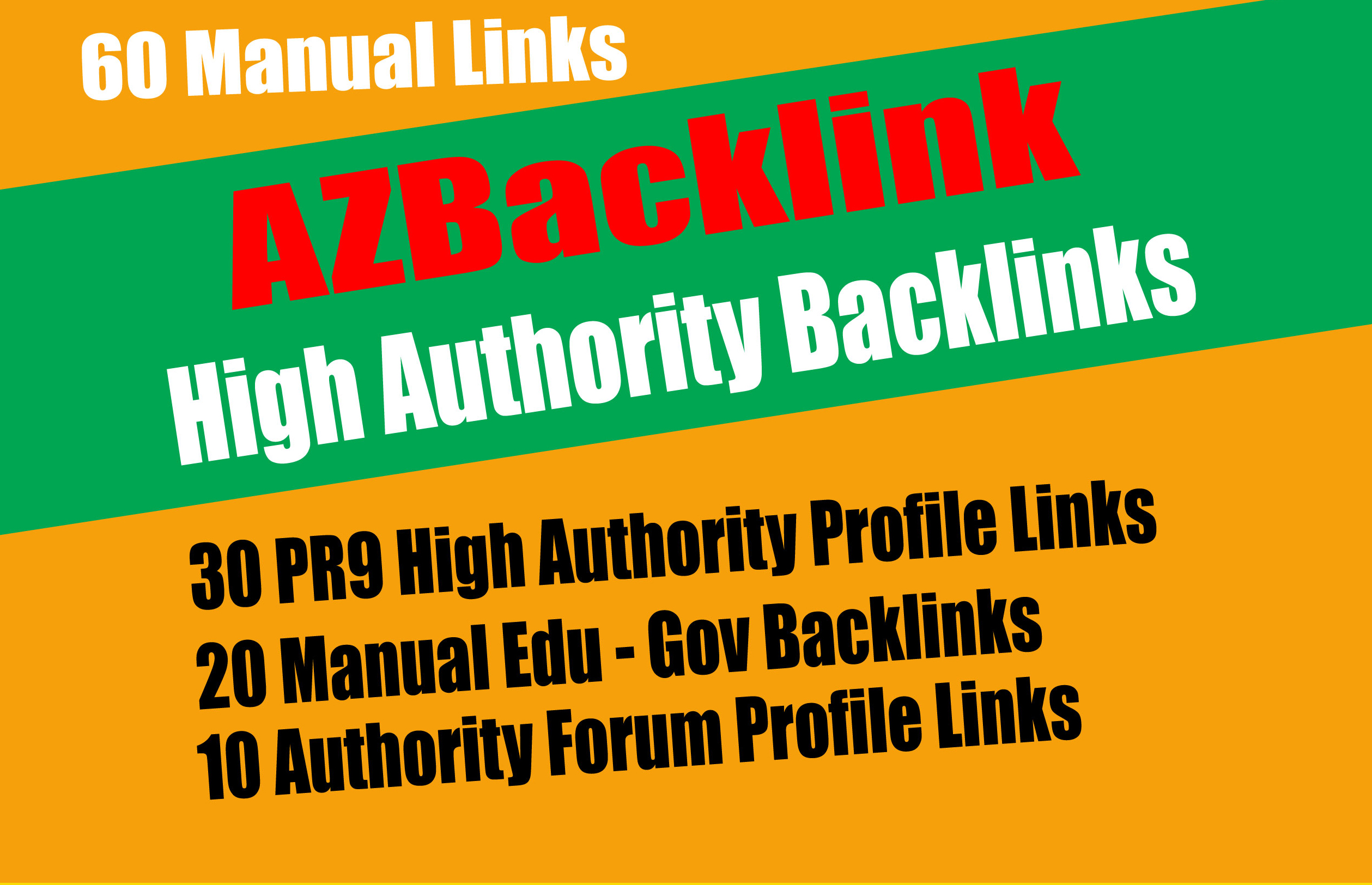 60 Authority Backlinks From 30 HQ Profile + 20 Edu-Gov Profile + 10 Forum Profile Links