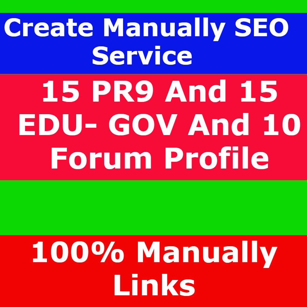 I Will Create 15 PR9 AND 15 EDU-GOV AND 10 FORUM LINKS