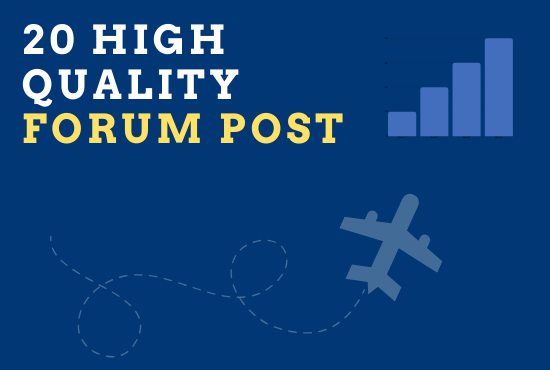 20 High quality Forum post on your website