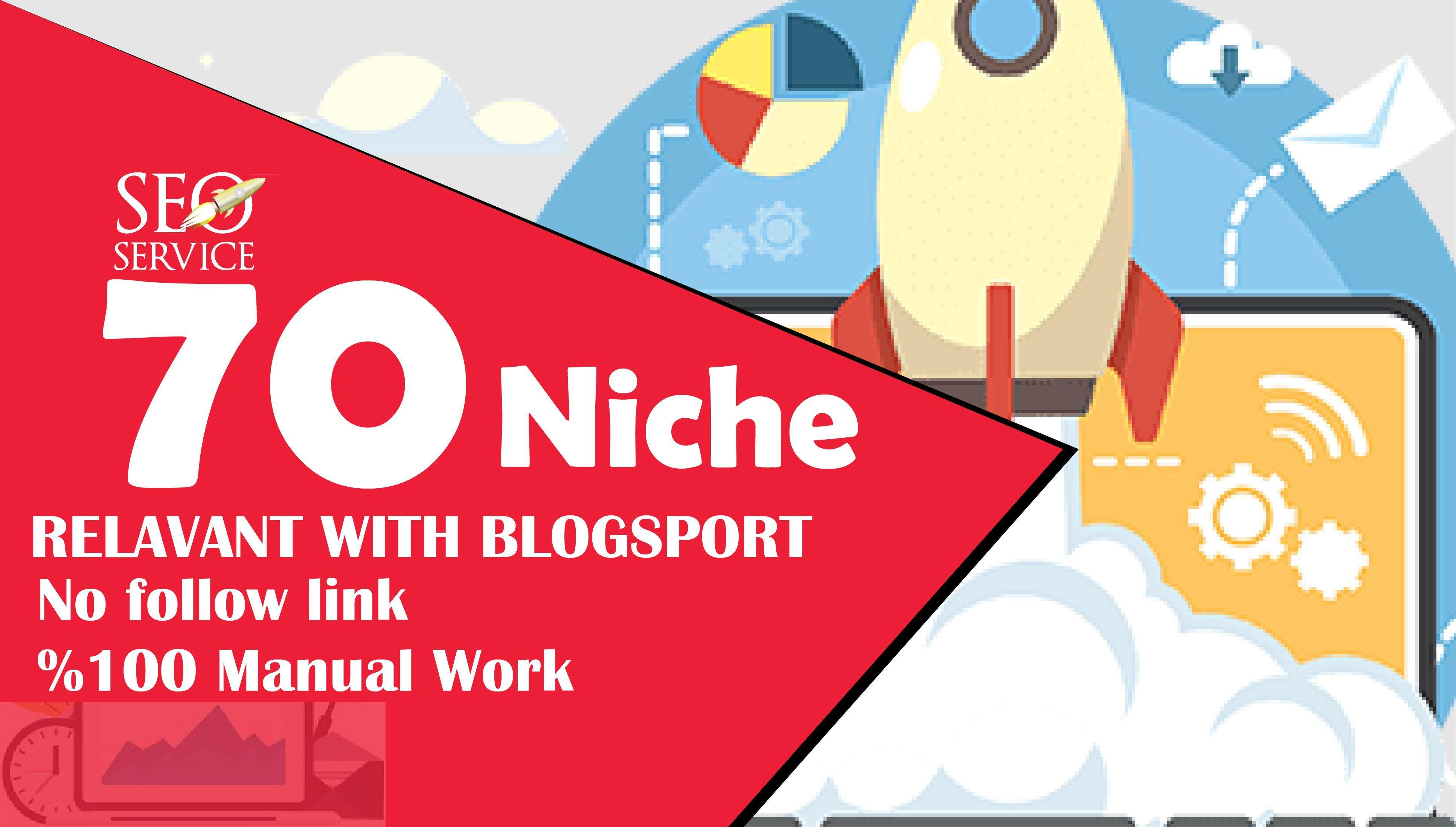 I will do 70 niche relevant backlinks nofollow links