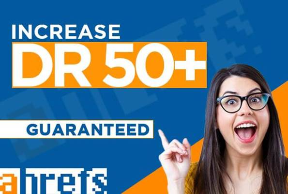 I will increase domain rating DR 50+ da 20+ tf 10+