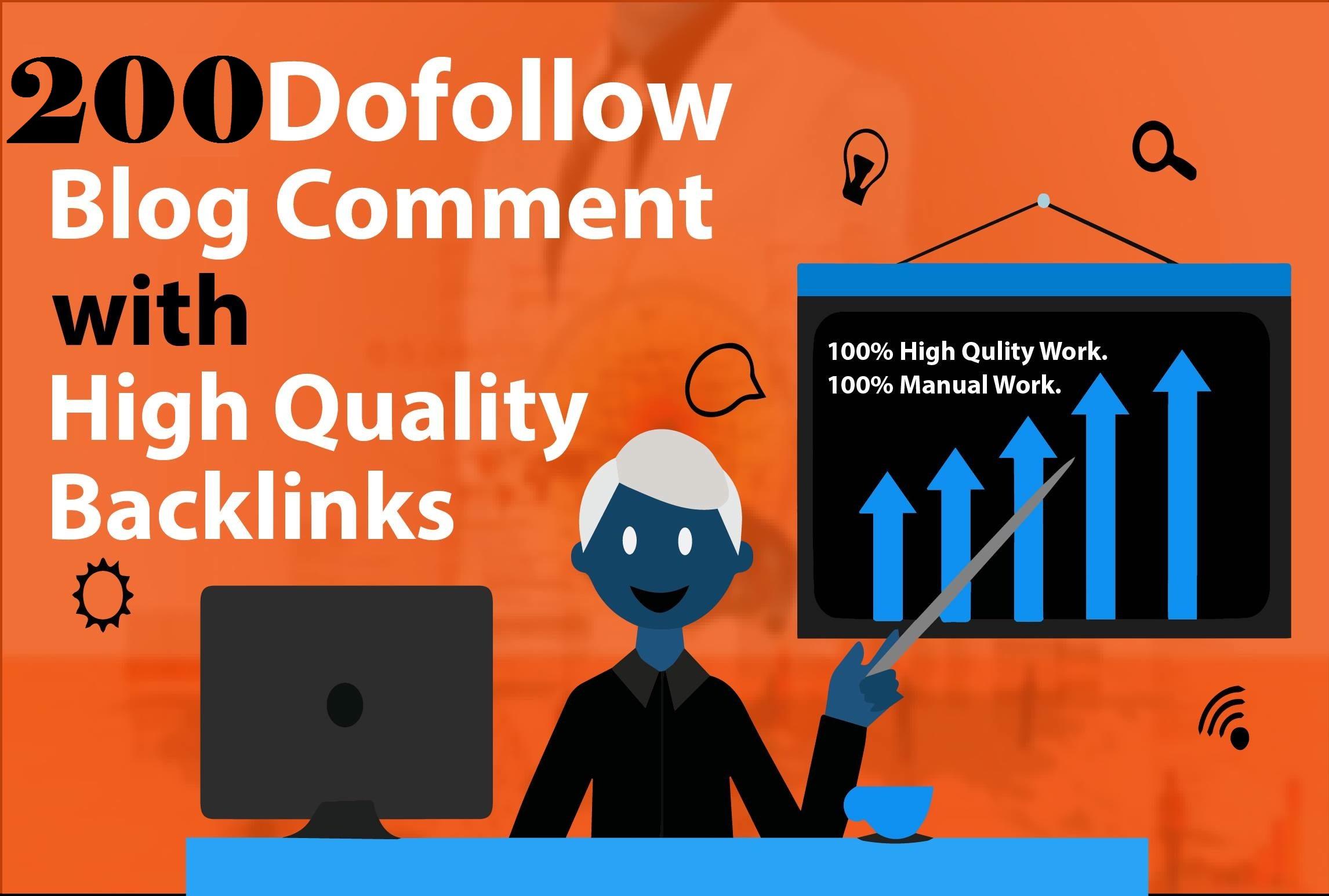 I will provide 200 do-follow backlinks