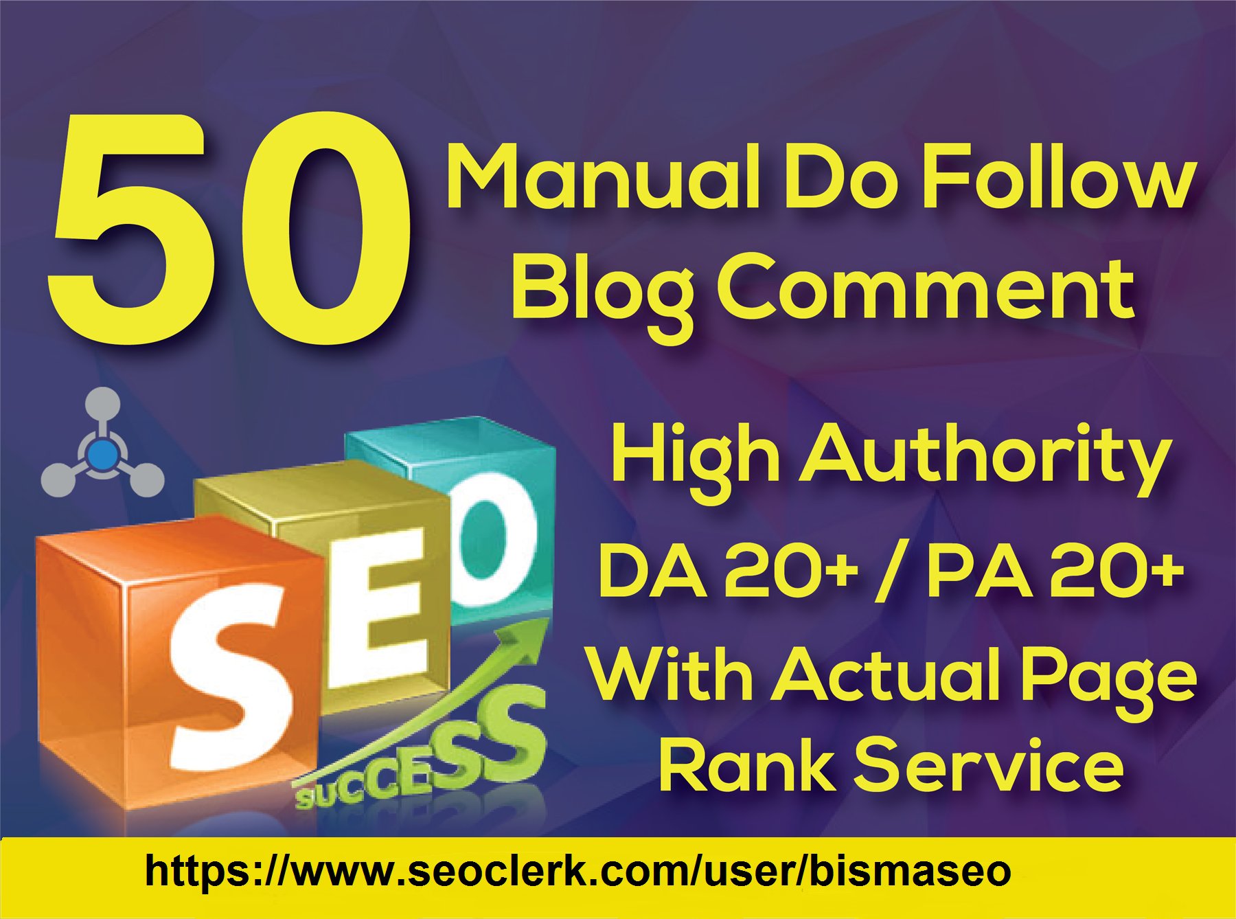 Provide 50 Blog Comment High Da/Pa and Tf/Cf backlinks