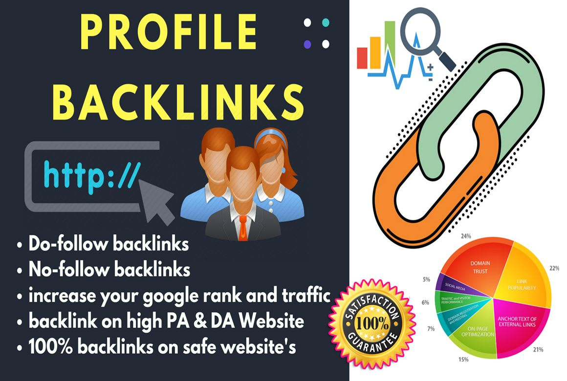 I will creat 20 profile bcklinks high DA PA