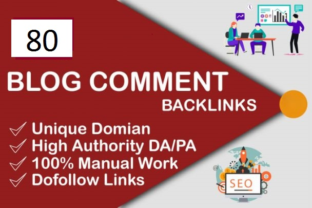 I will do 80 unique domain high quality blog comment