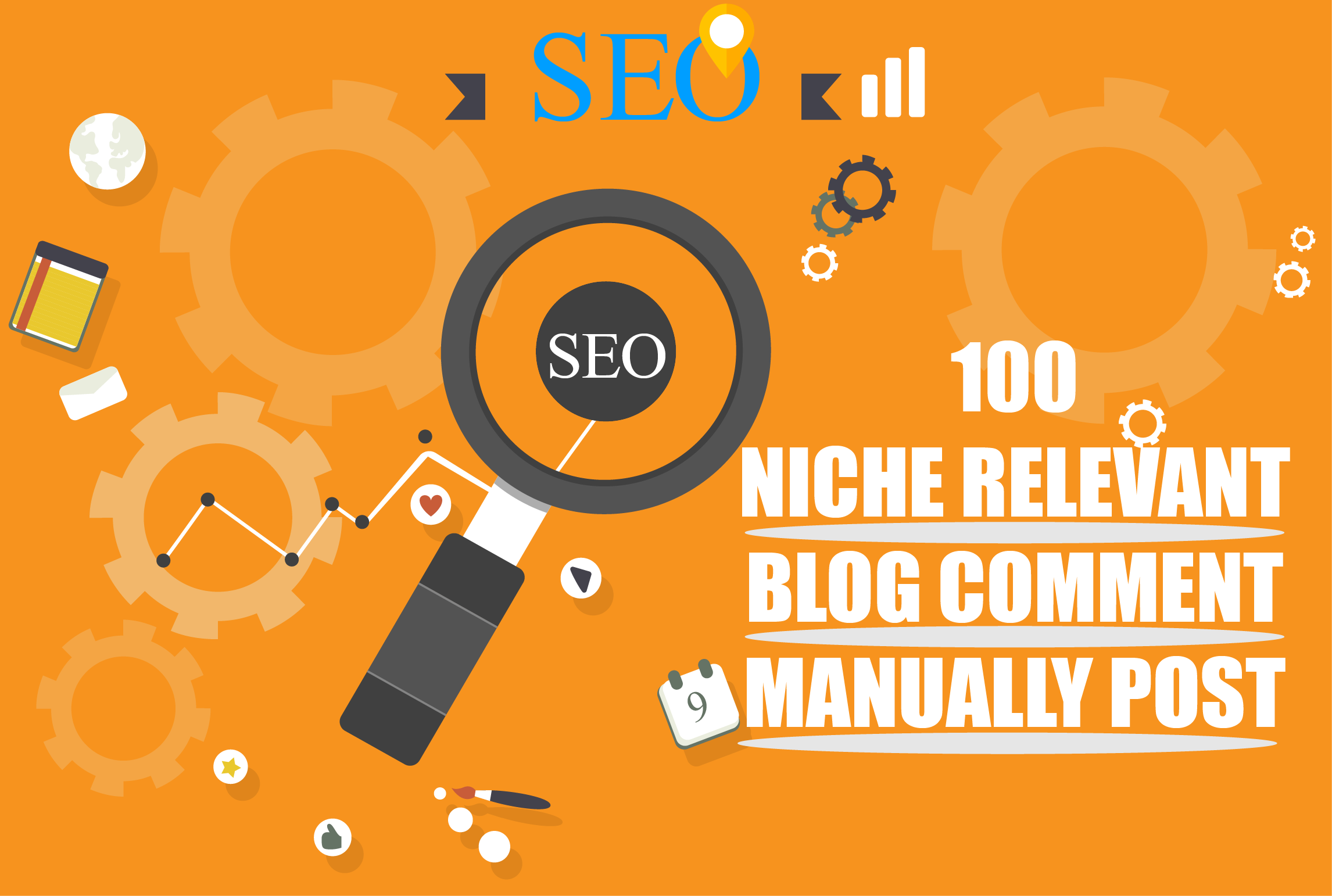 I will do 100 niche relevant blog comment nofollow backlinks