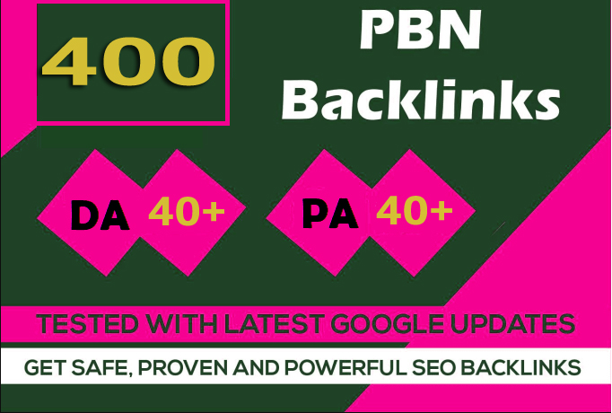 Build 400+parmanent PBN with High DA PA and 100 Dofollow with 400 unique website