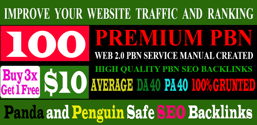 Build 100+parmanent PBN with High DA PA and 100% Dofollow with 100 unique website