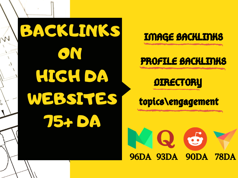 100+ backlinks on high quilty high DA websites
