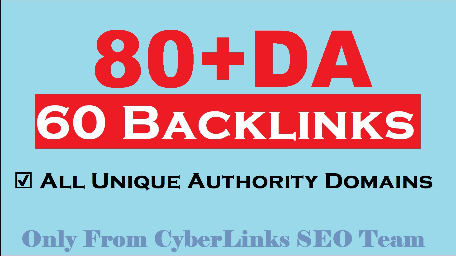 80+DA Links Juicy 60 PR9 Quality SEO Authority Backlinks for Promote Your 1st page Ranking