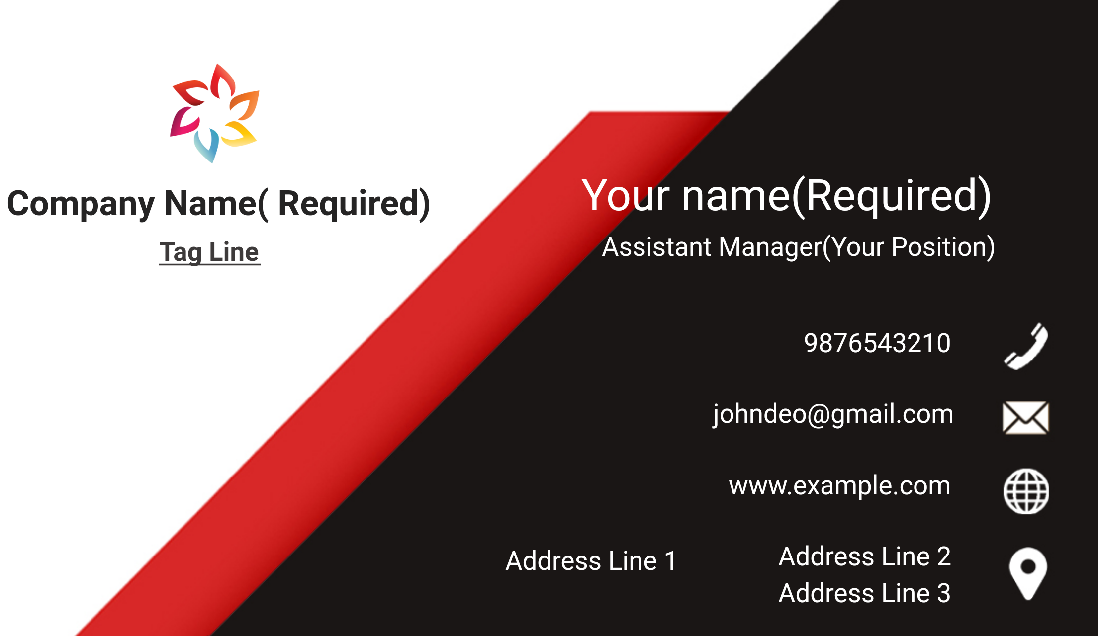 I will do Create A Unique Business Card with Your Own Logo