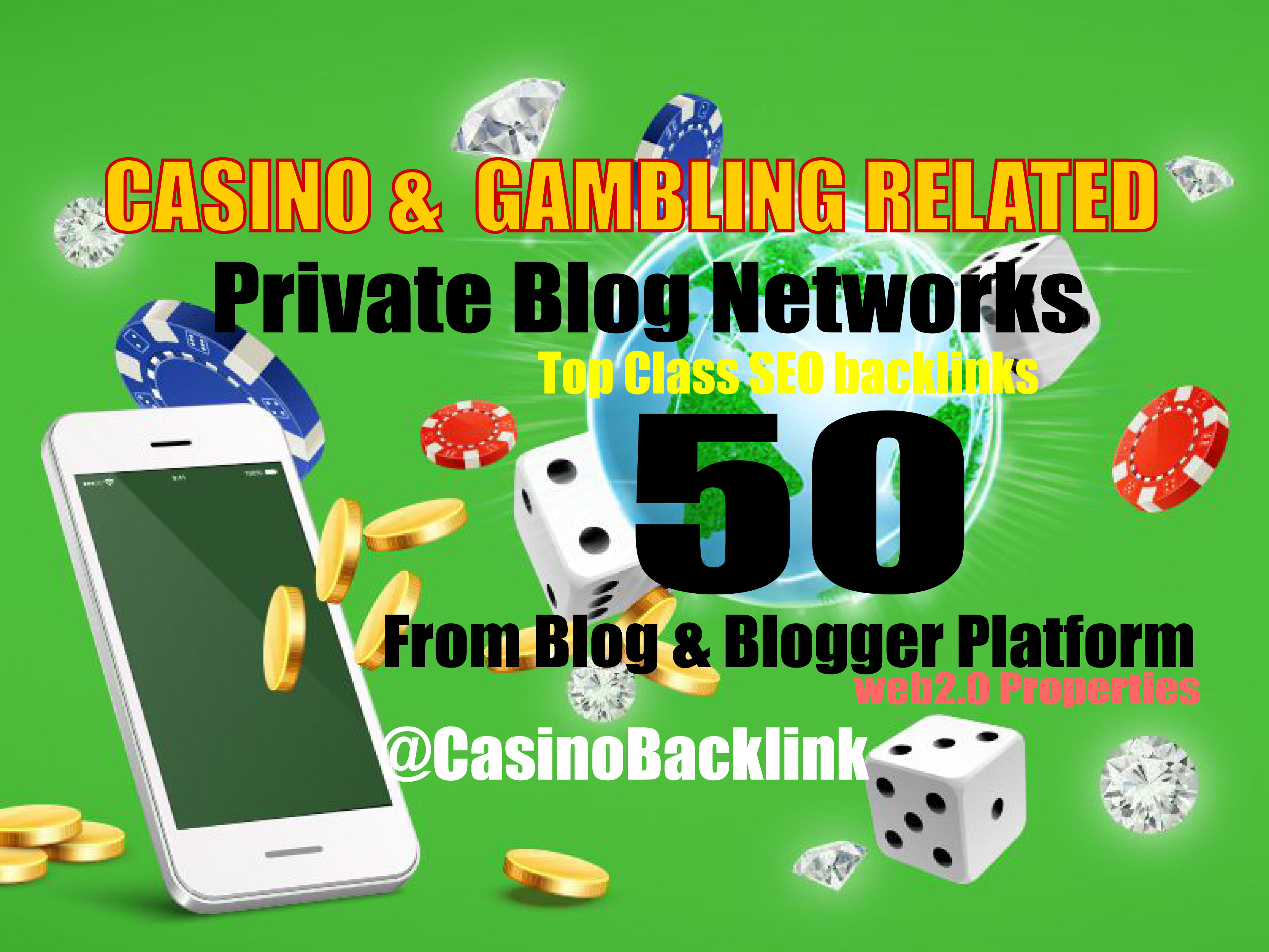 50 blogpost - Casino & Gambling related From Blogger & Blog we2.0 sites